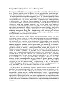 SYLLABUS MAE 633 Computational Fluid Dynamics and Heat