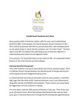 IBS Info Sheet - Lindy Ford Nutrition & Wellness
