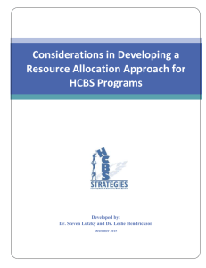 Resource Allocation Development Considerations