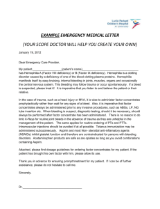 example emergency medical letter