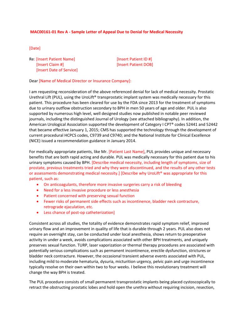 Denial Claim Letter Sample from s3.studylib.net