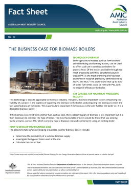 The Business Case for Biomass Boilers