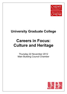 Culture and Heritage - University Graduate College