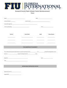 Broward County Public Schools Tuition Reimbursemen Form