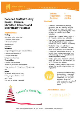 Pouched stuffed turkey breast part 2