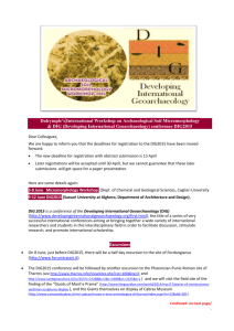 Dalrymple`s International Workshop on Archaeological Soil