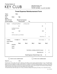 District Board Travel Expense Reimbursement Form