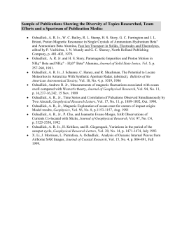 Sample of Publications - Andrew R. Ochadlick, Jr., Career Physicist