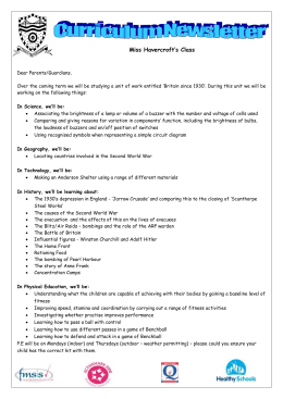 Miss Havercroft`s curriculum newsletter