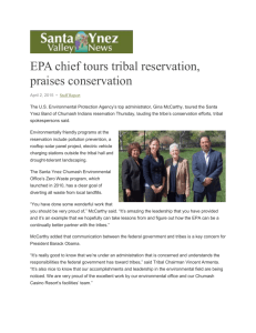 EPA chief tours tribal reservation, praises conservation