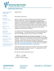 Letter to CAIP Parents and Educators 080515 board on left
