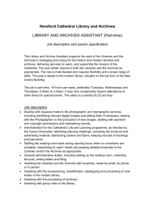 Job Description: Library and Archives Assistant