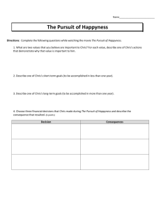 The Pursuit of Happyness - Mrs. Yeschick Class Assignments