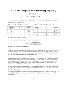 CSCE614 Computer Architecture (Spring 2012)