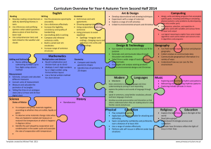 Curriculum Overview for Year X
