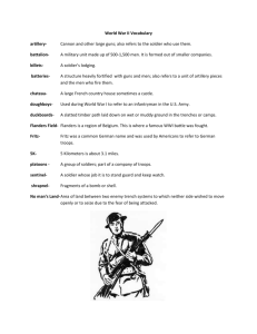 Doughboy Vocabulary - Southwest Center for Educational