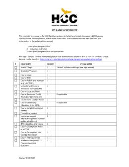 Hcc Online Faculty Handbook