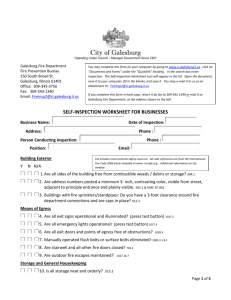 Fire Safety Self Inspection Worksheet for