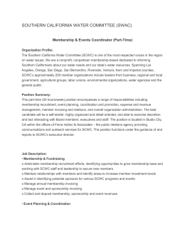 Membership & Events Coordinator (Part