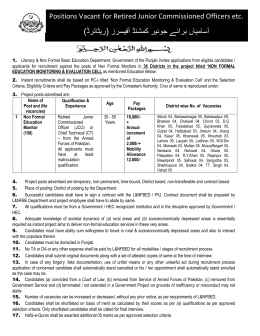 NFE Monitoring & Evaluation Cell-Field Staff