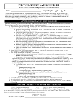 BA/BS Political Science Major Check Sheet