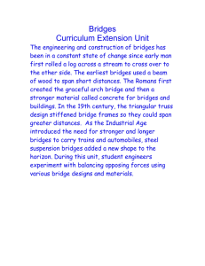 Bridges Curriculum Extension Unit The engineering and