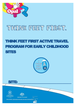 Think Feet First Active Travel Program Resource