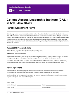 College Access leadership Institute (CALI)