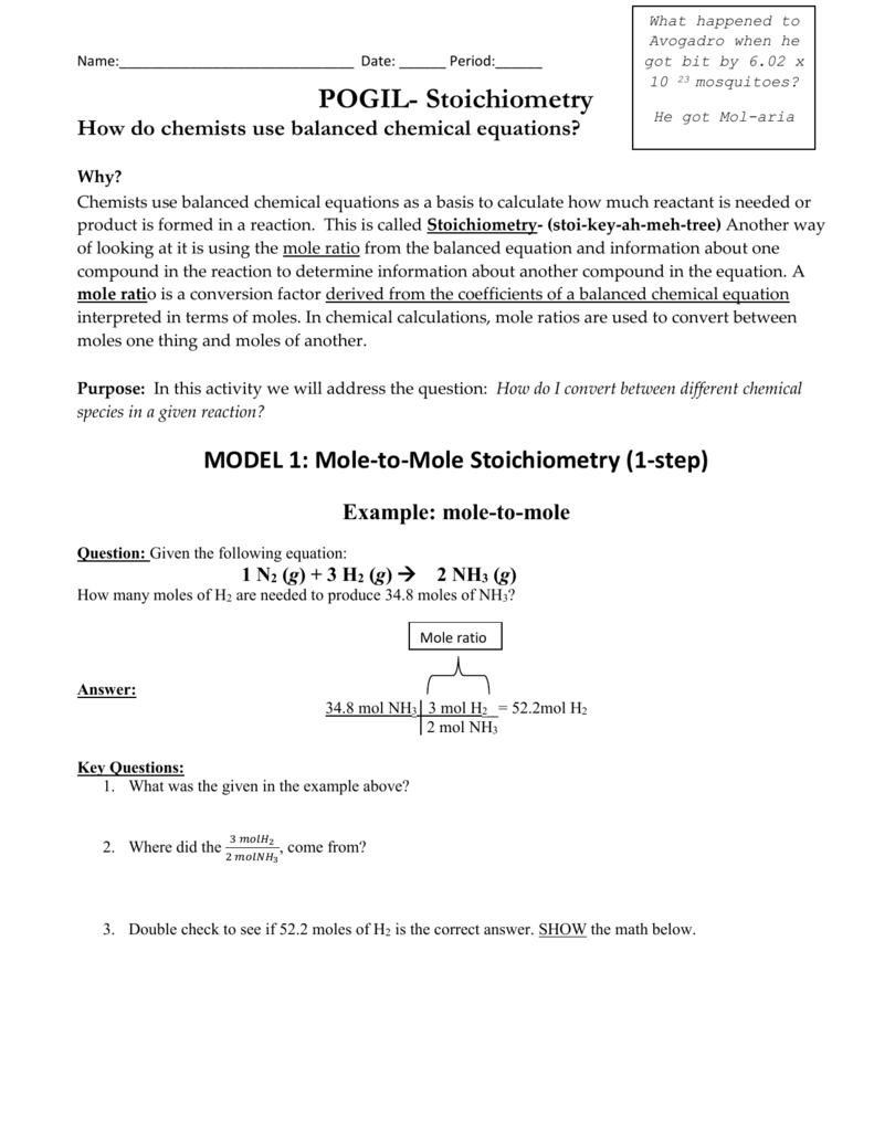 Mole ratio pogil key gram formula mass worksheet answers resume mole ratio image array 1 n 2 g 3 h 2 rh studylib fandeluxe Images