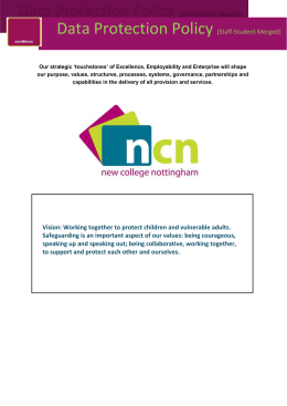 ncn student Data Protection Policy