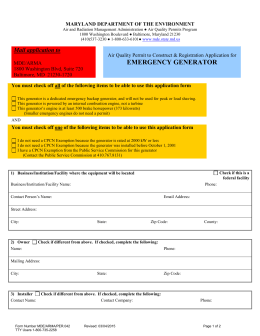 Form 42 - Maryland Department of the Environment