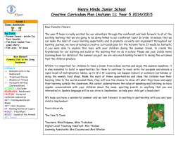 Henry Hinde Junior School Creative Curriculum Plan (Autumn 1)