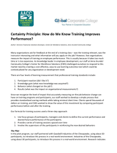Certainty Principle: How do We Know Training Improves