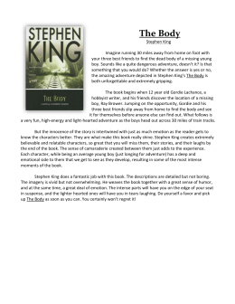 the body stephen king sparknotes