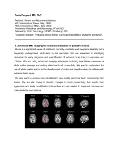 Advanced MRI Imaging for Pediatric Stroke Information