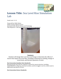 Sea Level Rise Experiment Lesson
