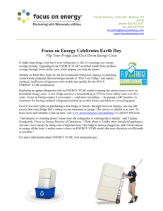 Focus on Energy Celebrates Earth Day Flip Your Fridge and Cool