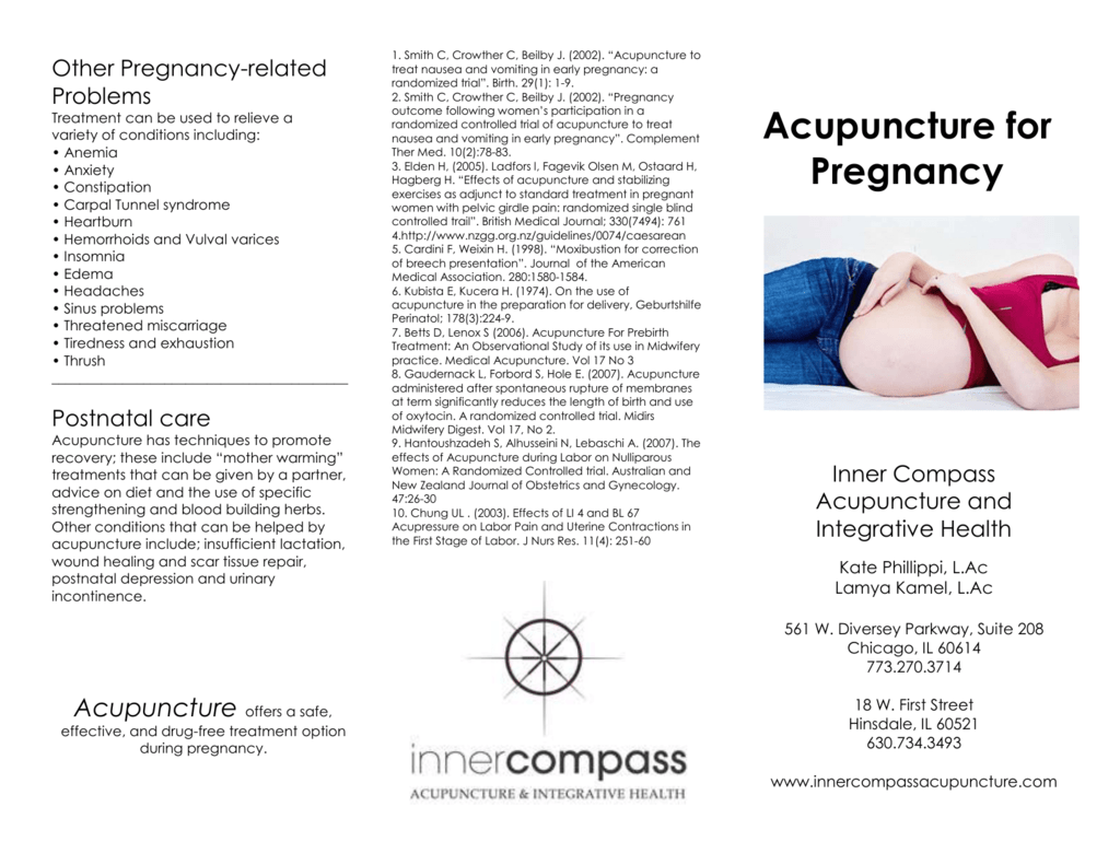 Acupuncture & Pregnancy - Inner Compass Acupuncture