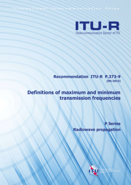 RECOMMENDATION ITU-R P.373-9 - Definitions of maximum and