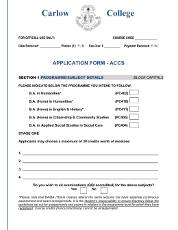application form - accs
