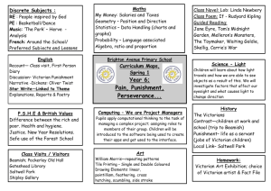 Curriculum Map – Spr 1 – Pain, Punishment, Perseverance