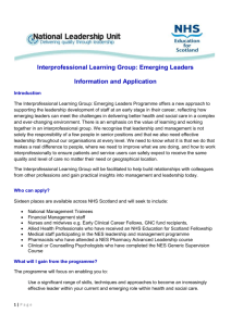 Interprofessional Learning Group: Emerging Leaders Application Form