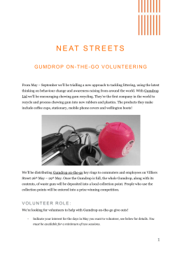 NEAT STREETs - Charity Job