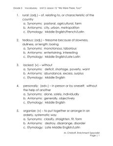 Things Fall Apart Vocabulary