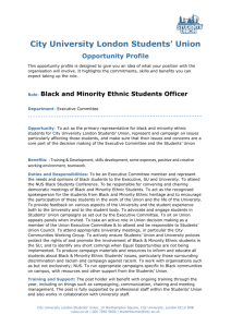 Black and Minority Ethnic Students Officer