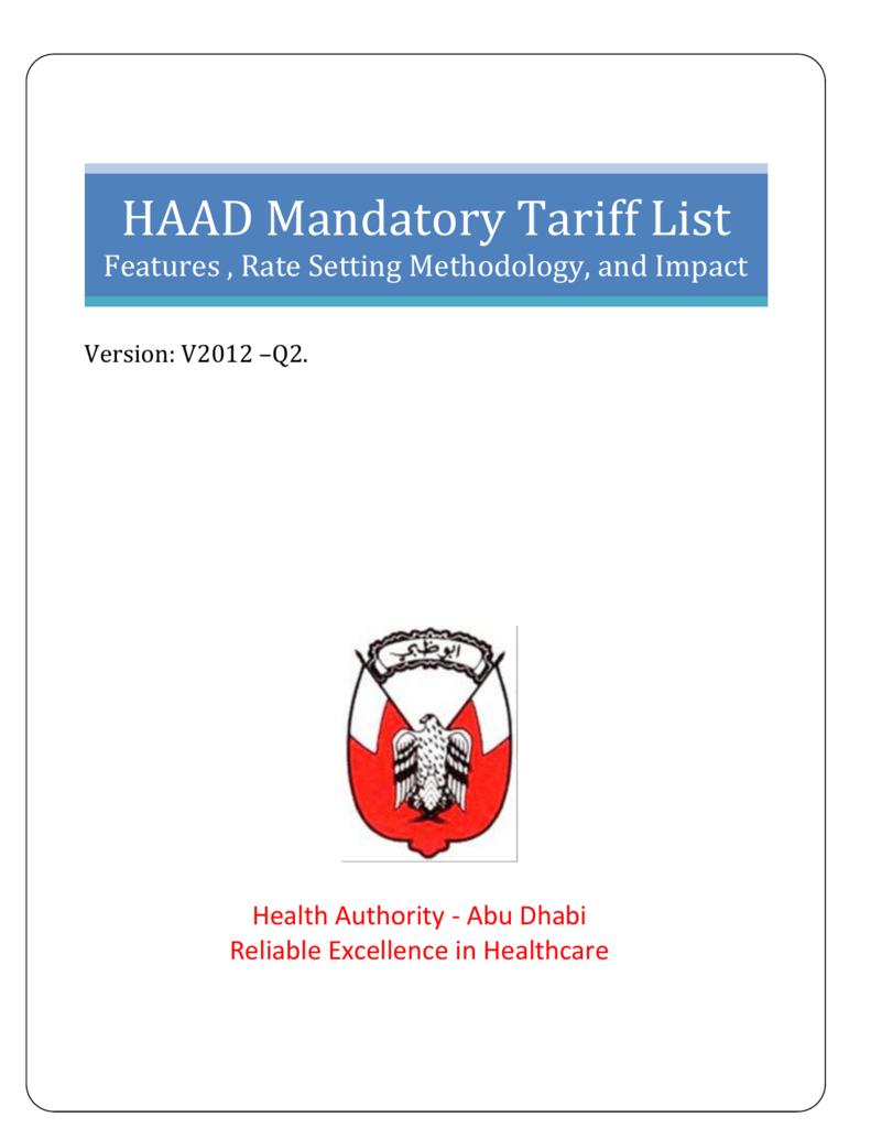 HAAD CLAIMS & ADJUDICATION RULES
