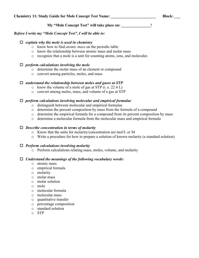 The mole unit checklist urtaz Gallery