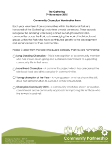`Community Champion` Nomination Form