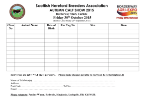 Entry Form - The Hereford Cattle Society