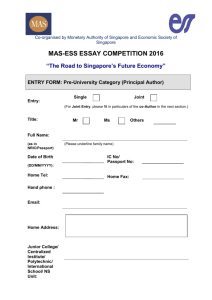 THE MAS-ESS ESSAY COMPETITION, YEAR 2001